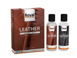 Leather wax en oil kit