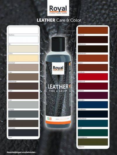 Leathe color en care kleurenkaart